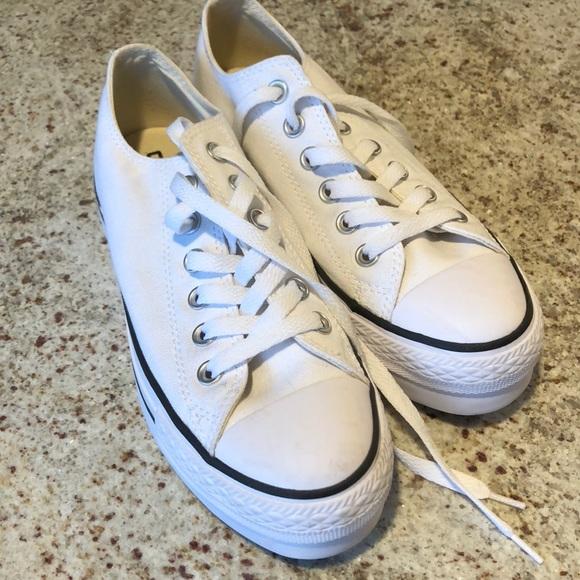 cc8e97a50a1 Converse Shoes - Converse Hi Lo Platform Chucks size 6.5 White